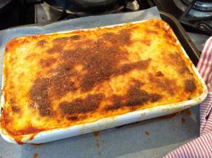 cooked moussaka