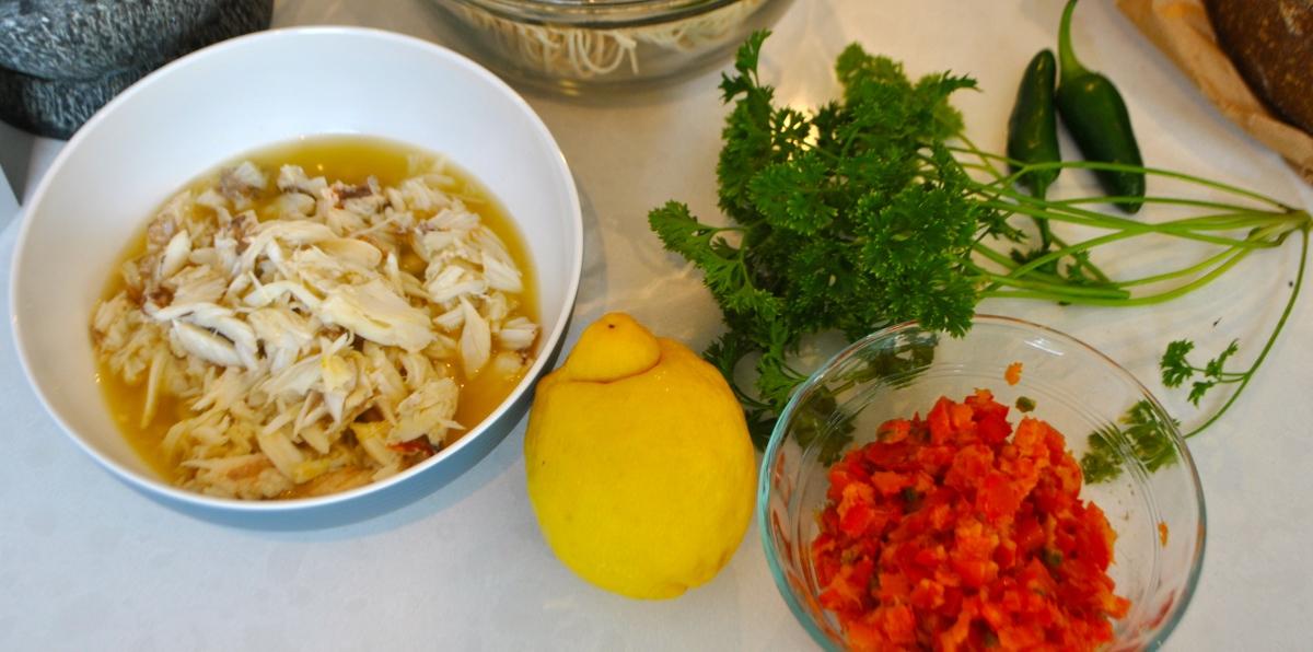 how to make crab linguine