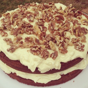 A carrot cake I made for a lunch function last week!