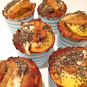 Buckwheat, Banana & Peach Muffins